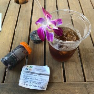 Geocaching in Hawaii Mai Tai